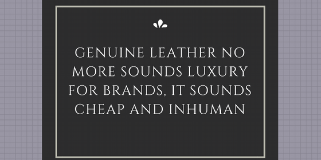 Genuine Leather No More Sounds Luxury