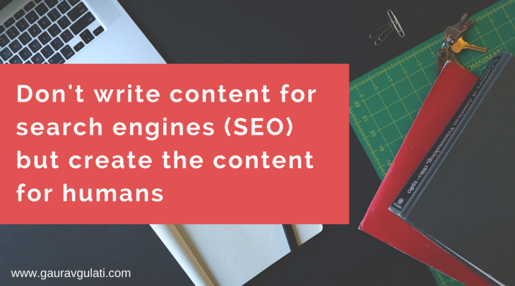 Create The Content For Humans